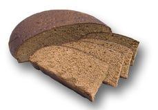 Pão de centeio redondo preto caseiro Imagens de Stock Royalty Free