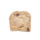 Pão de chocolate isolaed no fundo branco imagem de stock