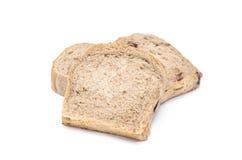 Pão de chocolate isolaed no fundo branco imagem de stock royalty free