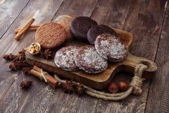 Pão-de-espécie alemães típicos tais como a cópia de Lebkuchen e de Aachener Fotos de Stock
