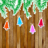 Pão-de-espécie com ramos de árvore do Natal. + EPS8 Fotografia de Stock Royalty Free