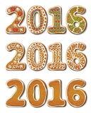 Pão-de-espécie 2016 do ano novo ilustração royalty free