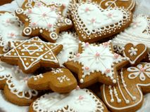 Pão-de-espécie do Natal Fotos de Stock