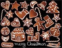 Pão-de-espécie do Natal ilustração royalty free