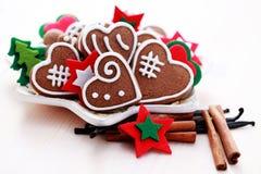 Pão-de-espécie do Natal imagens de stock royalty free