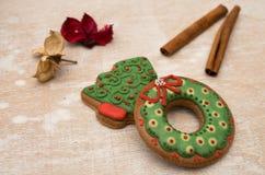 Pão-de-espécie do Natal Fotografia de Stock