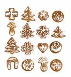 Pão-de-espécie do Natal no fundo branco Foto de Stock