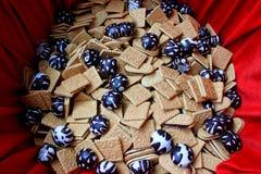 Pão-de-espécie e biscoitos Fotografia de Stock