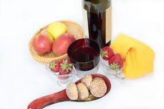 Pão-de-espécie e fruto Fotografia de Stock Royalty Free