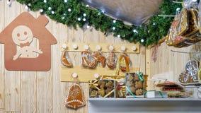 Pão-de-espécie no mercado do Natal em Vilnius Imagem de Stock Royalty Free