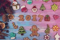 Pão-de-espécie por 2017 anos novos Imagem de Stock