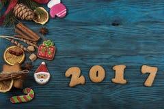 Pão-de-espécie por 2017 anos novos Foto de Stock