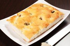 Pão de Focaccia Fotos de Stock