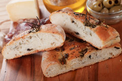 Pão de Focaccia Fotografia de Stock