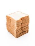 pão de leite no branco Fotografia de Stock Royalty Free