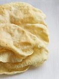 Pão de Pappadum do indiano Fotografia de Stock