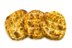 Pão de Pide, pão do pide do peru, ramazan e pide, pide do pão do turco, cultura turca e pão do pide, pão do pide no fundo branco Imagens de Stock