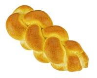 Pão de Zopf isolado no branco Imagem de Stock