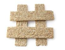 Pão dietético em um fundo branco Fotografia de Stock