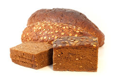 Pão diferente com leite Foto de Stock Royalty Free