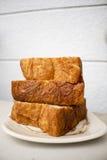 Pão dinamarquês do squre longo superior japonês do bolo suave Imagens de Stock Royalty Free