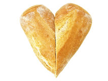 Pão do baguette do coração Fotos de Stock Royalty Free