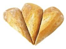 Pão do baguette do triângulo Fotos de Stock Royalty Free