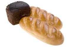Pão do branco e do broun foto de stock royalty free