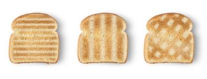 Pão do brinde das fatias fotos de stock