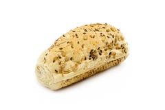 Pão do cereal no fundo branco Fotografia de Stock