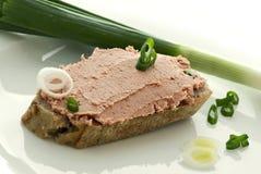 Pão do Liverwurst Imagem de Stock Royalty Free
