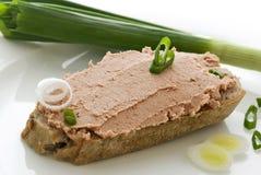 Pão do Liverwurst Fotografia de Stock Royalty Free