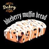 Pão do muffin de blueberry Produto cozido do pão ilustração royalty free