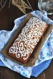 Pão do Natal com esmalte Foto de Stock