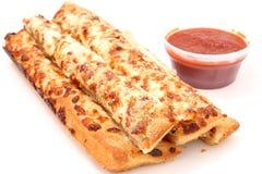 Pão do queijo e molho de Marinara Imagem de Stock