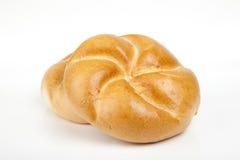 Pão do rolo isolado no fundo branco Imagem de Stock Royalty Free