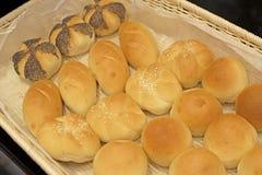 Pão do rolo macio para a refeição do café da manhã imagem de stock