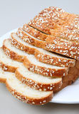 Pão do trigo com aveia Fotos de Stock Royalty Free