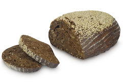 Pão do trigo mourisco isolado no fundo branco Imagens de Stock Royalty Free