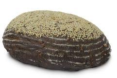 Pão do trigo mourisco no fundo branco Fotos de Stock