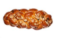 Pão doce no fundo branco Imagem de Stock