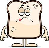 Pão doente dos desenhos animados ilustração do vetor