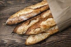 Pão dos Baguettes Foto de Stock