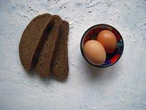 Pão e alho Fotografia de Stock