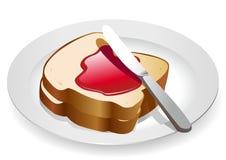 Pão e atolamento Foto de Stock