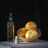 Pão e azeite Foto de Stock