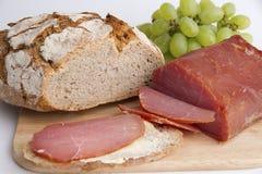 Pão e bacon Foto de Stock Royalty Free