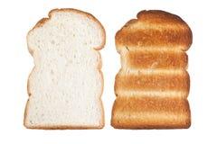 Pão e brinde cortados planície Foto de Stock