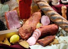 Pão e carne Imagens de Stock