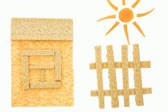 Pão e cenouras dietéticos Fotografia de Stock Royalty Free
